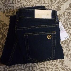 ❤Michael Kors overdyed indigo jeans